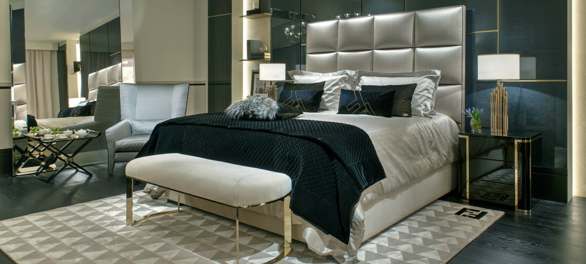 FF-Diamante-King-Bed-Mercury-Bedside-Tables-Asja-Bench