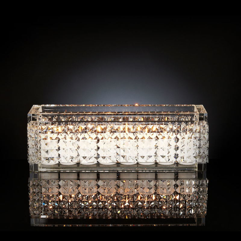 Rectangle Crystal Nefertari Candle Holder-VGnewtrends-cande holder