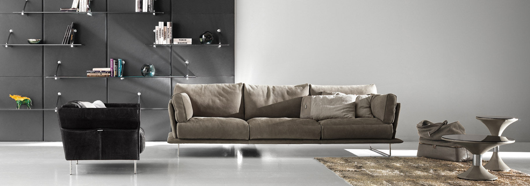 Leather Corner Sofa With Metal Legs