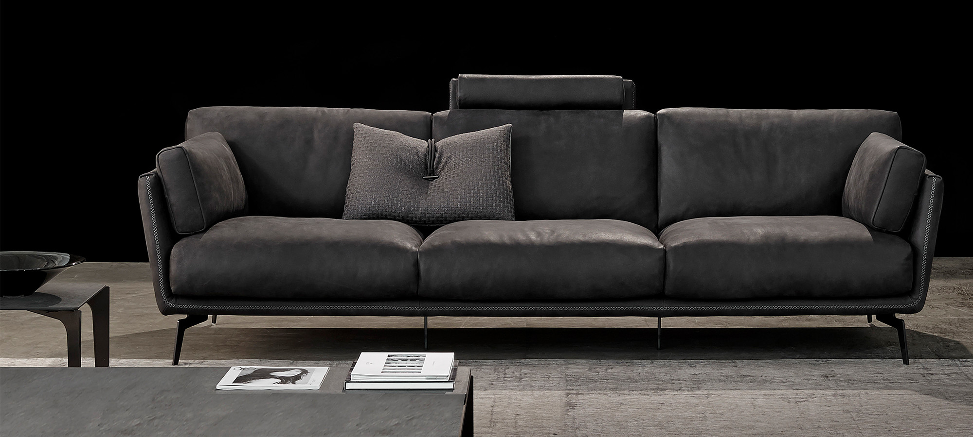 Gamma sofa modular sofa contemporary leather 3 seater soho for Gamma leather sectional sofa
