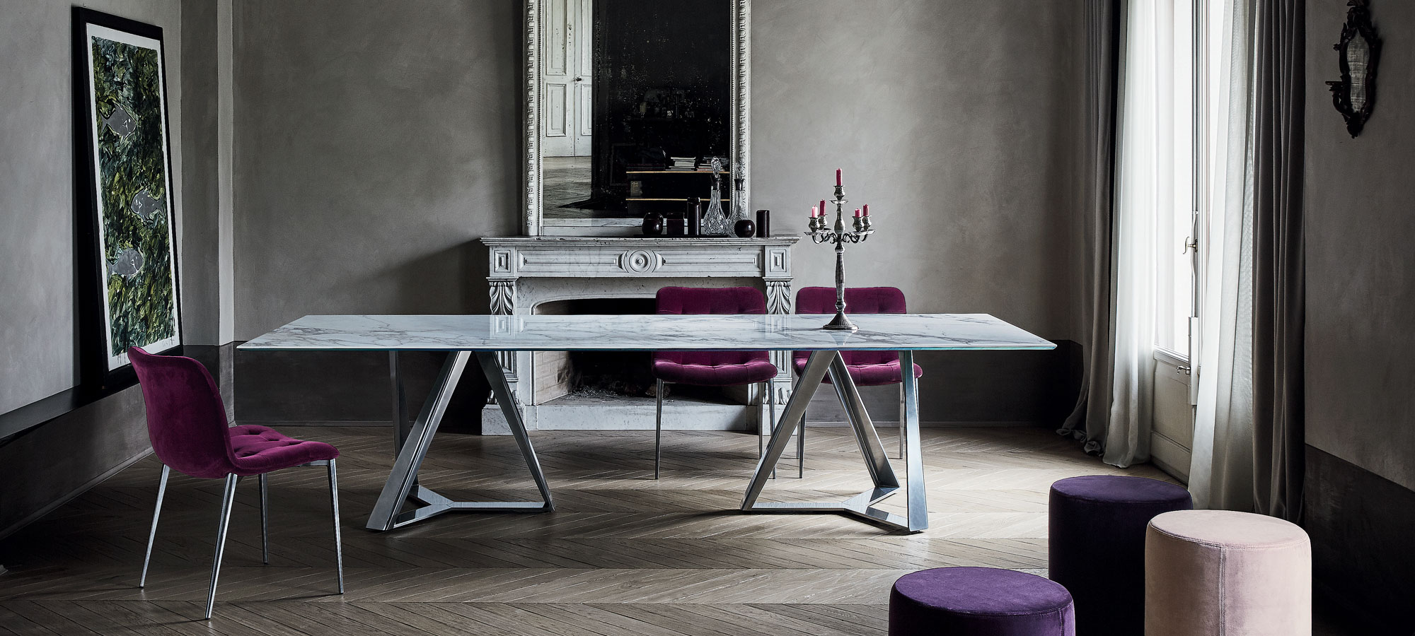 Millennium-bontempi-dining-table