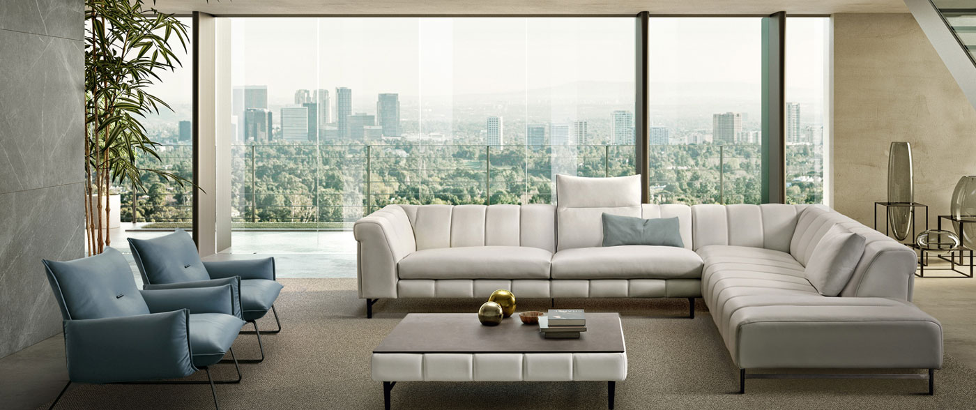 Made In Italy Leather Luxury Contemporary Furniture Set: Luxury Brands - Casarredo